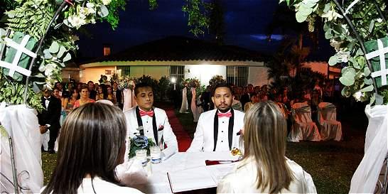Gays Gays Ramiro y Luis Felipe se dieron el sí ante una notaria